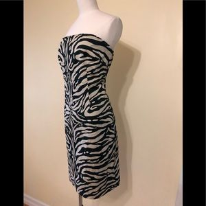 The Limited animal print strapless dress